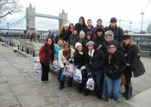 UCF Study Abroad Students in London