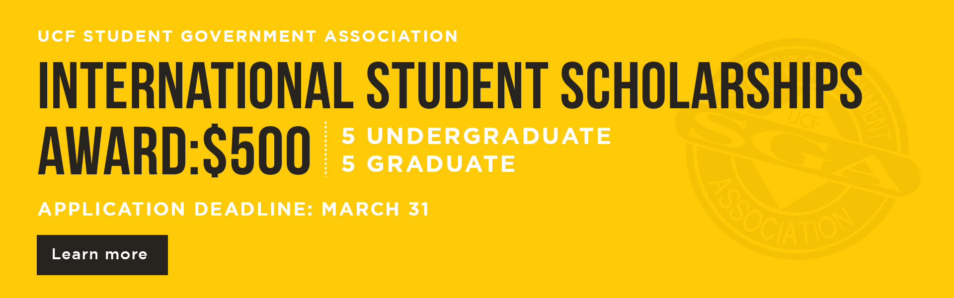 SGA International Scholarship