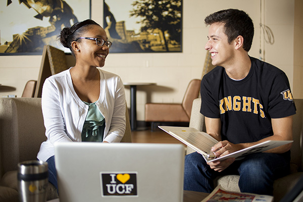University of Central Florida students, studying and interacting
