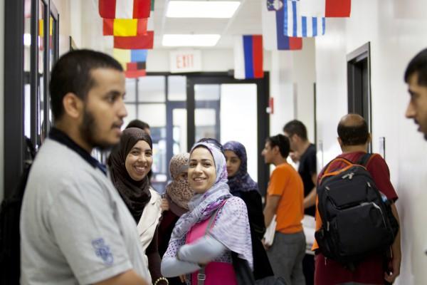 Students inbetween English classes, UCF, University of Central Florida