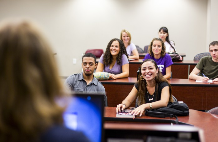 UCF, lecture, professor view of students in class