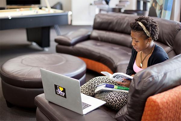 UCF student studying